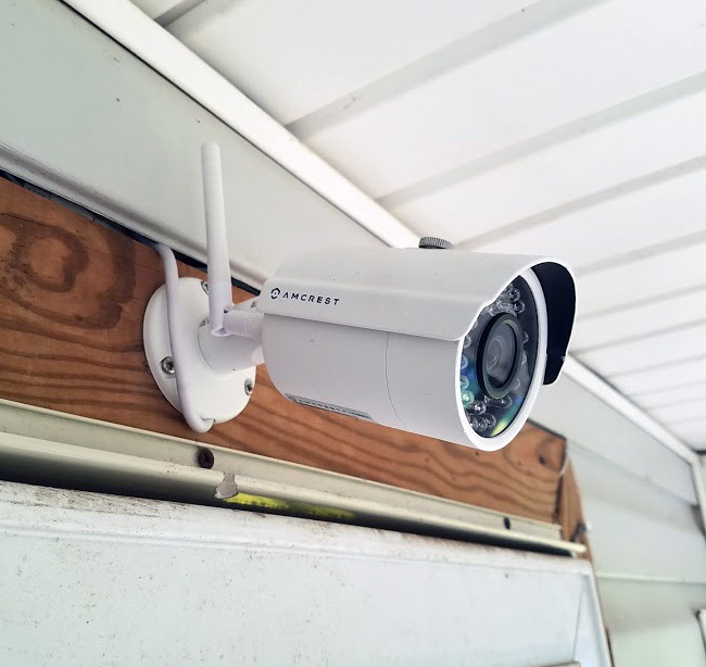 cameras installed for security