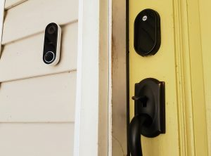 Nest X Lock+ Nest Hello Doorbell Installed